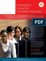 Compulsory Course for Candidate Attorneys 2012 v13