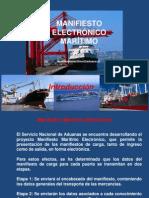 Manifiesto Maritimo Electronico Aduana