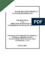 Radiacion Ultraviolet A y La Salud en Py