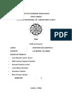 Perfil Proyecto Educacion Ambiental