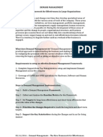 Demand Management - The New Framework for Effectiveness