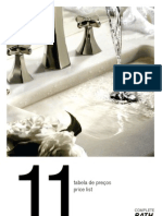 Tabela Preços - Cifial Banho 2011