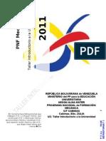 Informe No.1 Tema Antecedentes de La Educion Universitaria en Vzla