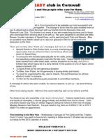 Speak Easy 111214 Newsletter