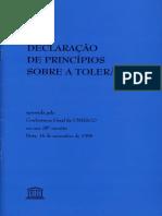 Declaração de Princípios sobre a Tolerãncia