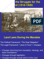 Law & Struggle for the Lland 1918-1936