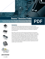 Bourns Resistive Products Overview White Paper