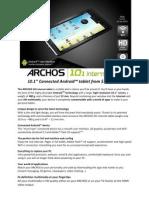 A101IT Spec Sheet En