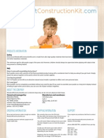 Woodcraft Construction Kit Product Catalogue