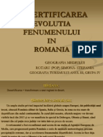 Desertificarea Evolutia Fenomenului in Romania