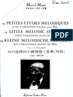 Moyse 24 Short Melodious Studies