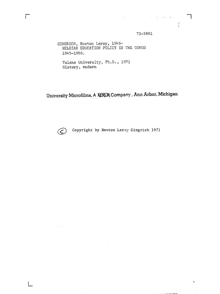 Newt gingrich phd dissertation