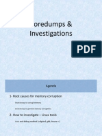Coredumps & Investigations