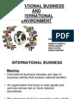 International Business and International Environment