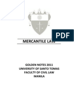 UST GN 2011 - Mercantile Law Preliminaries