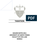 UST GN 2011 - Taxation Law Preliminaries