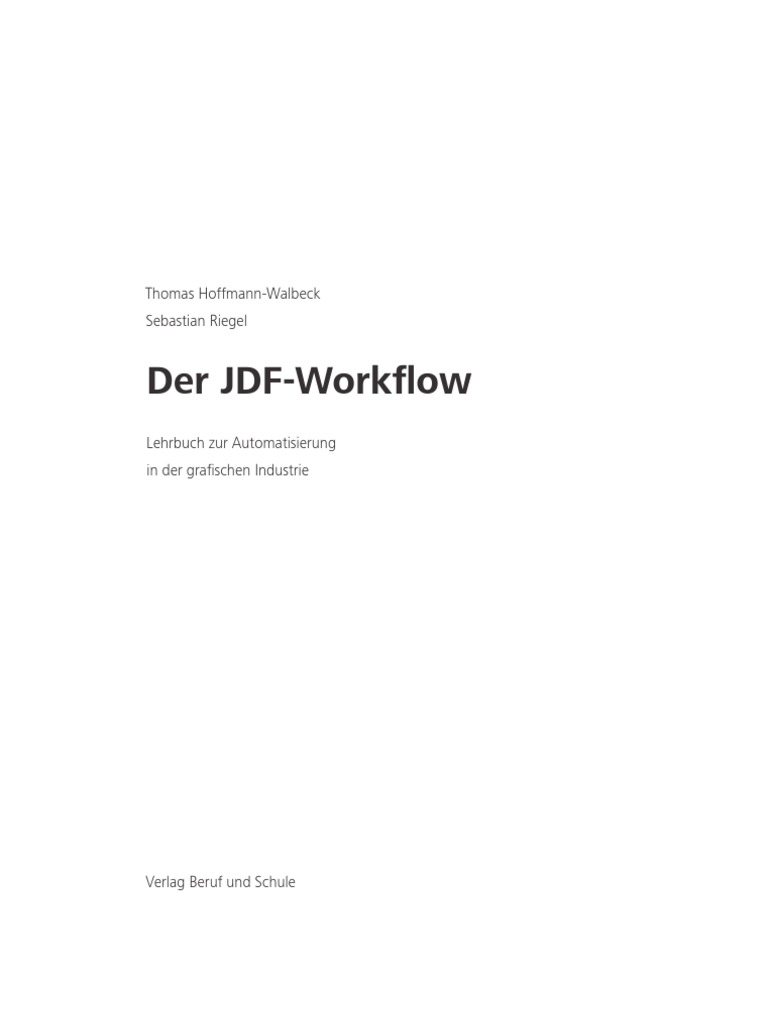 Jdf Workflowmuster
