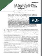 Apolipoprotein B–dependent hepatitis C virus secretion is inhibited by the grapefruit flavonoid naringenin
