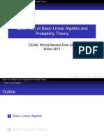 Linear Algebra and Probability Theory