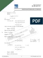 Lakshay 2013 Maths DPP12 Solutions Function