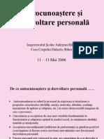 Autocunoastere Si Dezvoltare Personala