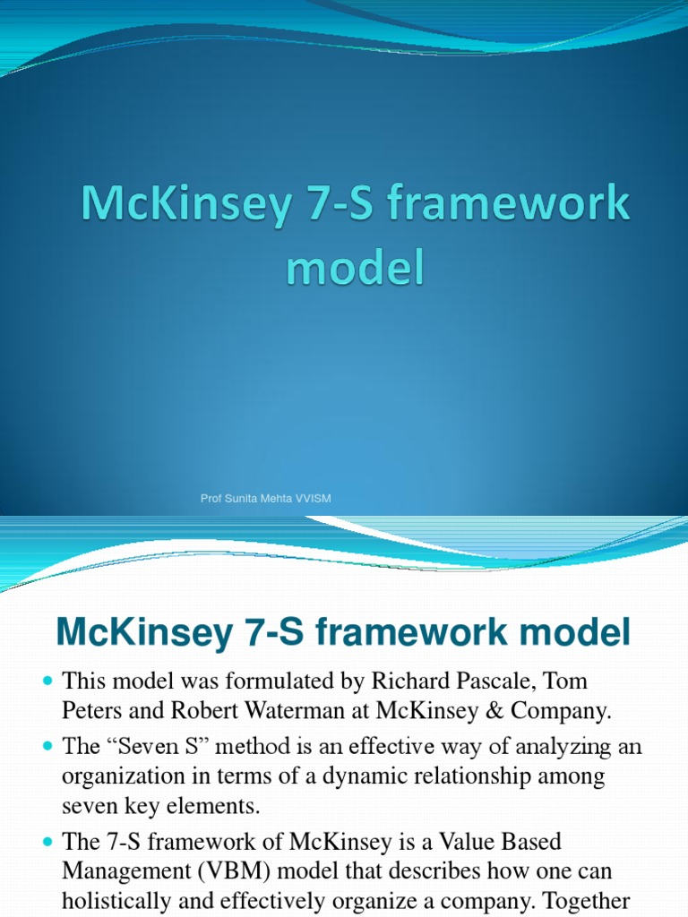 mc kinsey essay