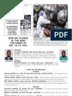 BCSP NFL ProFile - December 20, 2011