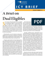 Policy Brief on Dual Eligibles