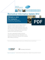Biomedical Informatics Update 2012