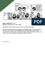 Observe la viñeta de Mafalda a seguir