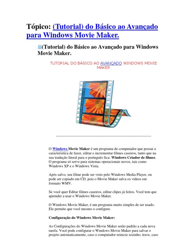MAKER WINDOWS EFEITOS BAIXAR MOVIE E PARA LIVE TRANSIES