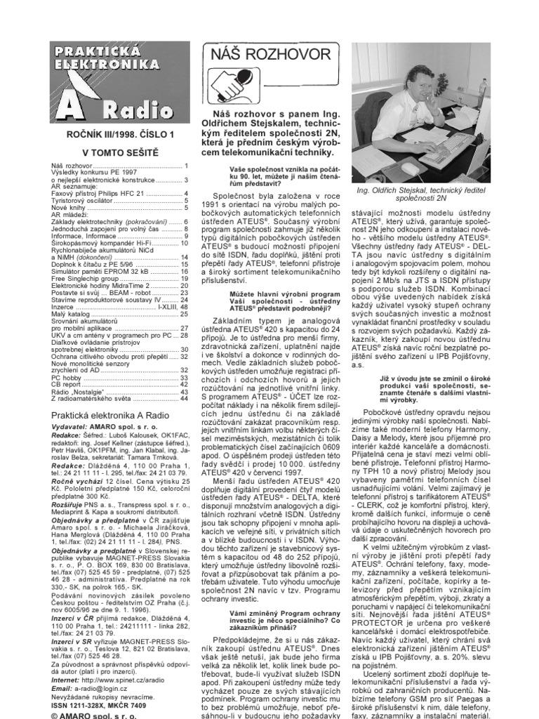 Prakticka Elektronika 1998 01 Audio Gt Filters Automatic Level Control With Ne570 L11794