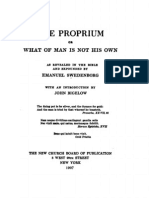 John Bigelow the PROPRIUM or What of Man is Not His Own as Expounded by EMANUEL SWEDENBORG New York 1907