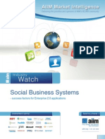 Industry Watch  Social Business Systems 2011 - success factors for Enterprise 2.0 applications