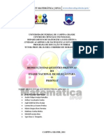 PROFMAT-PROVA 2011 RESOLVIDA