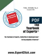 Yearbook of Experts, Authorities & Spokespersons 2012
