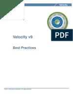 Velocity v9 Best Practices