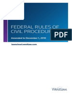 Federal Rules Civil Procedure (Amend. Dec. 1, 10)