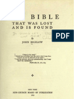 John Bigelow the BIBLE That Was LOST and is FOUND New York 1912
