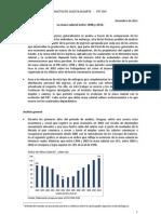 La masa salarial entre 1998 y 2010.