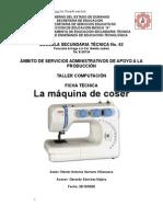 Análisis de Objeto Técnico de La Máquina de Coser
