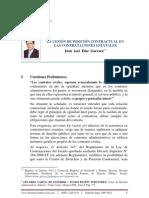 Cesion de Posicion Contractual en Contrataciones Estatales