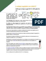 Fuente de Voltaje Regulable Con LM317T