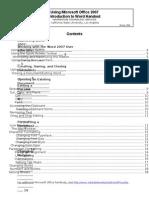 MSWORD 2007 Handouts