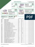 ViSalus Product Order Form