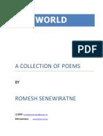 ONE WORLD Poems by Dr Romesh Senewiratne-Alagaratnam Arya Chakravarti