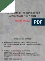 The Process of Industrialization in Pakistan II- 1977-2004