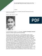 A Brochure on DDKosambi-Goa Born Hisorian and Mathematician