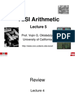 VLSI Arithmetic Lect 5