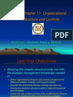 Strategic management Ch 11 Organization Structure & Controls - Lachowicz